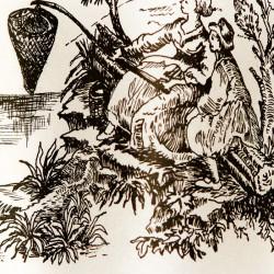 Zijdepapier - Schilderij - Zwart op wit - Close-up