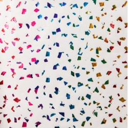 Zijdepapier - Edelsteen - Multikleur op wit - Close-up