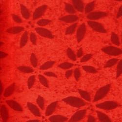 Zijdepapier - Bloemen  - Rood - Close-up