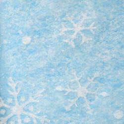 Zijdepapier - Sneeuwvlokken - Wit op blauw - Close-up