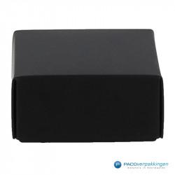 Geschenkdoos met deksel - Zwart Mat (Venetië) - Vooraanzicht dicht