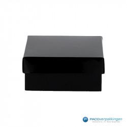 Geschenkdoos met deksel - Zwart Glans (Venetië) - Vooraanzicht dicht