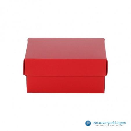 Geschenkdoos met deksel - Rood Mat (Venetië)