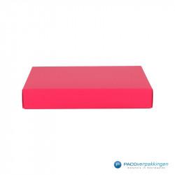 Geschenkdoos met deksel - Fuchsia Mat (Venetië) - Vooraanzicht dicht