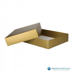 Geschenkdoos met deksel - Goud mat (Venetië) - Zijaanzicht voor open