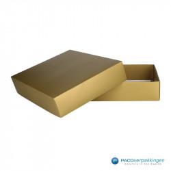 Geschenkdoos met deksel - Goud mat (Venetië) - Vooraanzicht open