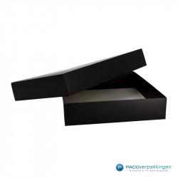 Geschenkdoos met deksel - Zwart Mat (Venetië) - Zijaanzicht voor open