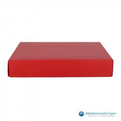 Geschenkdoos met deksel - Rood Mat (Venetië) - Vooraanzicht dicht