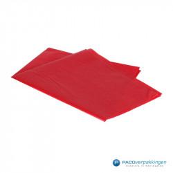 Zijdepapier - Rood - Zijaanzicht