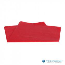 Zijdepapier - Rood - Vooraanzicht