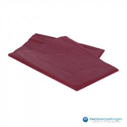 Zijdepapier - Bordeaux Rood - Zijaanzicht