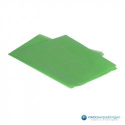Zijdepapier - Grasgroen - Zijaanzicht