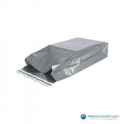 Verzendzakken - Zilver - Zijaanzicht