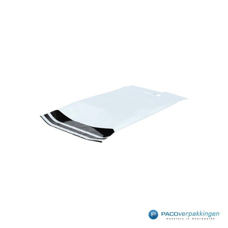 Verzendtassen - Wit - Zijaanzicht