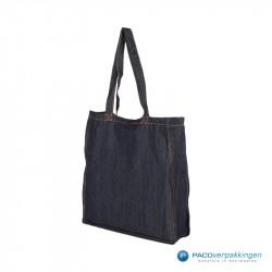 Denim tassen - Donkerblauw - Zijaanzicht