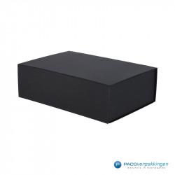 Magneetdoos - Zwart Mat (Toscana) - Zijaanzicht dicht