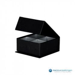 Magneetdoos - Zwart mat (Sweetbox) - Zijaanzicht voor open