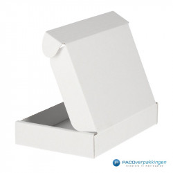 Brievenbusdozen - Wit - A6 - Achteraanzicht deksel open
