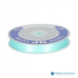 Satijn lint - Mint Blauw - Vooraanzicht