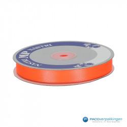 Satijn lint - Koraal Oranje - Vooraanzicht
