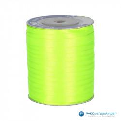 Satijn lint - Fluor Groen - Vooraanzicht