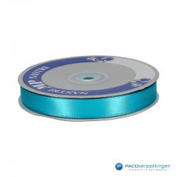 Satijn lint - Turquoise - Vooraanzicht
