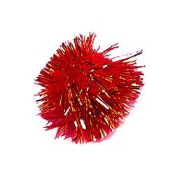 Plakdecoratie - Pom Pom - Rood
