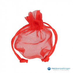 Organza zakjes - Rood - Vooraanzicht