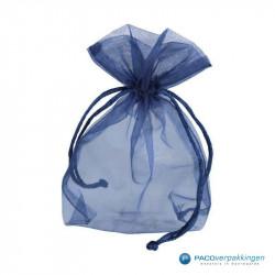 Organza zakjes - Royal Blue - Achteraanzicht