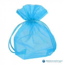 Organza zakjes - Turquoise - Vooraanzicht