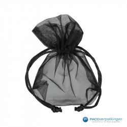 Organza zakjes - Zwart - Vooraanzicht