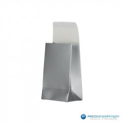 Geschenkzakjes papier - Zilver (Palermo) - Zijaanzicht voor