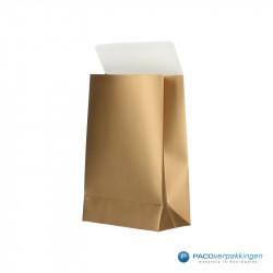 Geschenkzakjes papier - Goud (Palermo) - Zijaanzicht