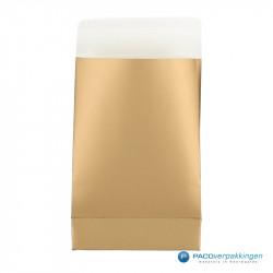Geschenkzakjes papier - Goud (Palermo) - Vooraanzicht