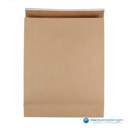 Geschenkzakjes papier - Bruin Kraft (Palermo) - Vooraanzicht
