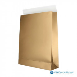 Geschenkzakjes papier - Goud (Palermo) - Zijaanzicht voor