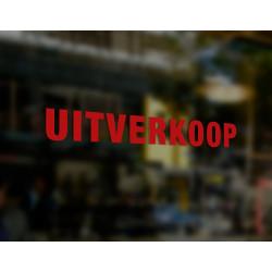 Raamsticker - UITVERKOOP - Rood - Gebruik