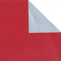 Inpakpapier - Effen - Rood en zilver (R19011) - Close-up