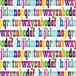Inpakpapier - Letters - Multikleur (Nr. 21.396) - Close-up