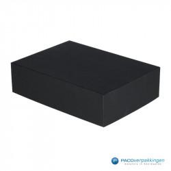 Geschenkdoos met deksel - Zwart Mat - A5 - Luxe - Zijaanzicht dicht