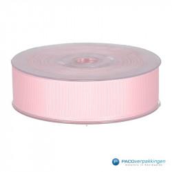 Inpaklint - Ribbel - Roze - Vooraanzicht