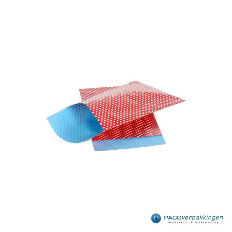 Papieren zakjes - Stippen - Rood - Nr. 962 - Zijaanzicht voorkant