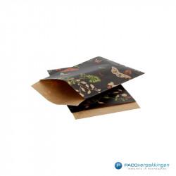 Papieren zakjes - Vlinder - Zijaanzicht