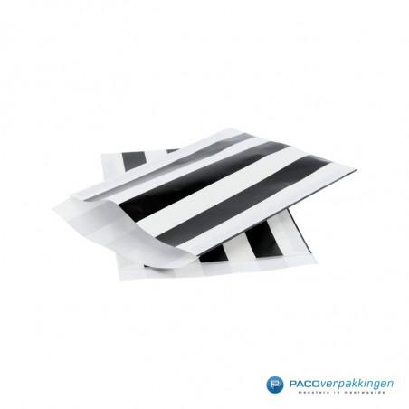 Papieren zakjes -  Zwart / Wit streep (Nr. 3226)