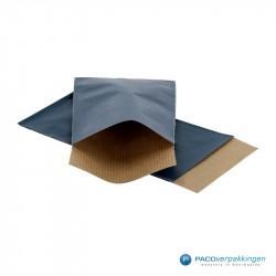 Papieren zakjes - Blauw Kraft - Vooraanzicht
