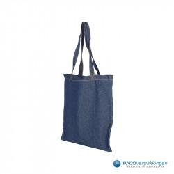 Denim tassen - Blauw - Achteraanzicht