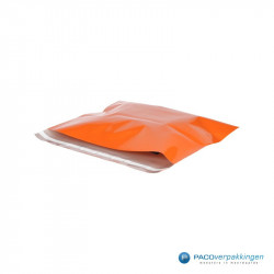 Verzendzakken - Oranje - Zijaanzicht open