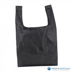 Boodschappentassen - Zwart - Opvouwbaar - Achteraanzicht