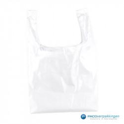 Boodschappentassen - Wit - Opvouwbaar - Vooraanzicht