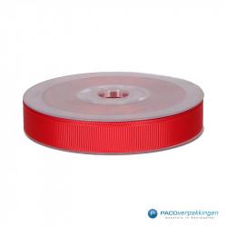 Inpaklint - Ribbel - Rood - Vooraanzicht
